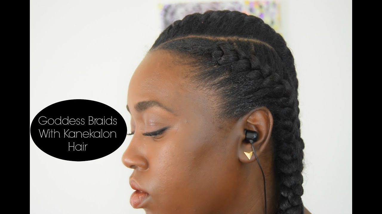 goddess braids with kanekalon hair - youtube
