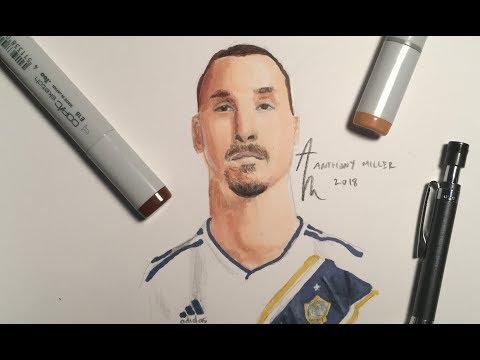Drawing ZLATAN🦁  LA Galaxy