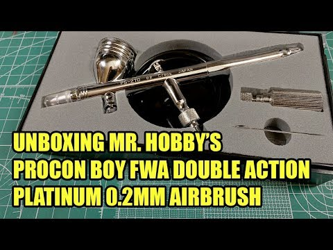 Unboxing The GSI Creos/Mr Hobby 0.2mm Procon Boy FWA Double Action Airbrush