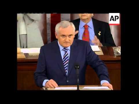 Congress convenes to hear retiring Irish PM Bertie Ahern