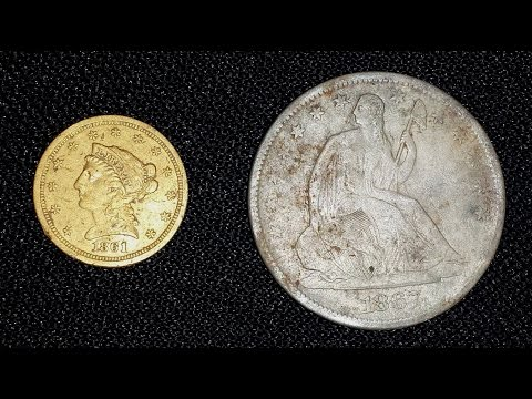 CA Relic Hunting / Metal Detecting Adventures:  $2 1/2 GOLD Coin & Seated Half!  Are you kidding me?