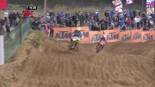 MXGP of Latvia Jeffrey Herlings passes Arminas Jasikonis #Motocross
