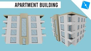 ROBLOX Mini Builds - Low Poly Modern Apartments Speed Build/Timelapse