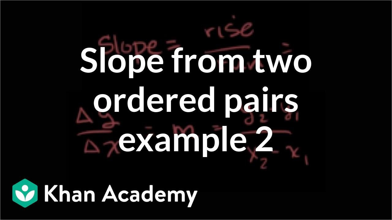 Worked example: slope from two points (horizontal line