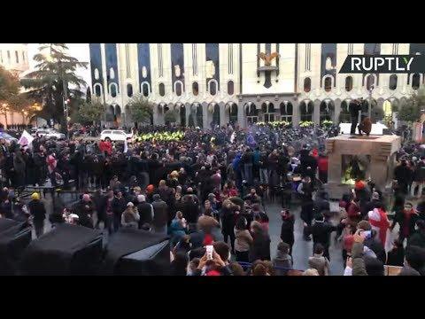 Georgian riot police disperse anti-govt rally in Tbilisi