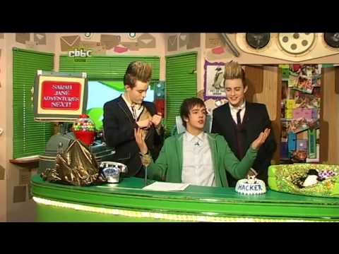 Jedward on CBBC (Iain and Hacker) and Newsround