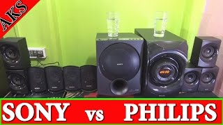Sony D100 vs Philips SPA8000B Home Theatre FiGHt CLuB by AKS(Use HeadPhone)