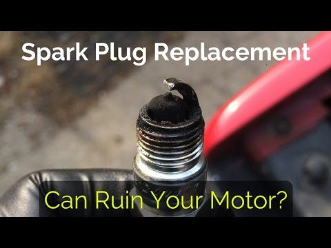 Spark plug replacement: Honda Cb750