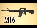 Como hacer un Rifle M16 de Papel que Dispare   Armas Caseras Fáciles
