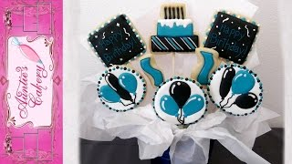 How to assemble a Cookie Bouquet