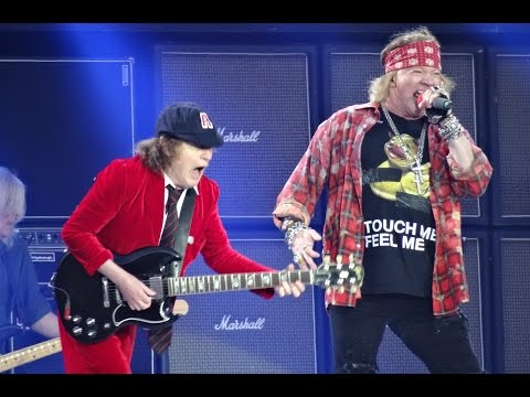 ACDC and Axl Rose  BACK IN BLACK HD  Ceres Park, Aarhus, Denmark, June 12, 2016
