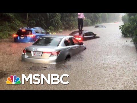 Forecast: Flash Floods Slam DC Area After Severe Thunderstorm | Hallie Jackson | MSNBC