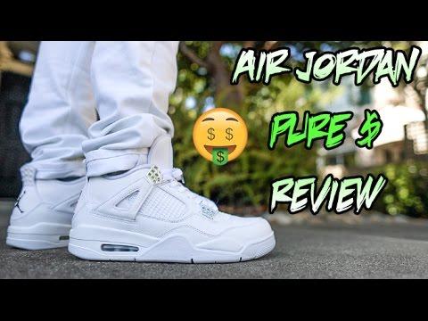 2017 AIR JORDAN 'PURE MONEY' 4 REVIEW + ON FEET!!!