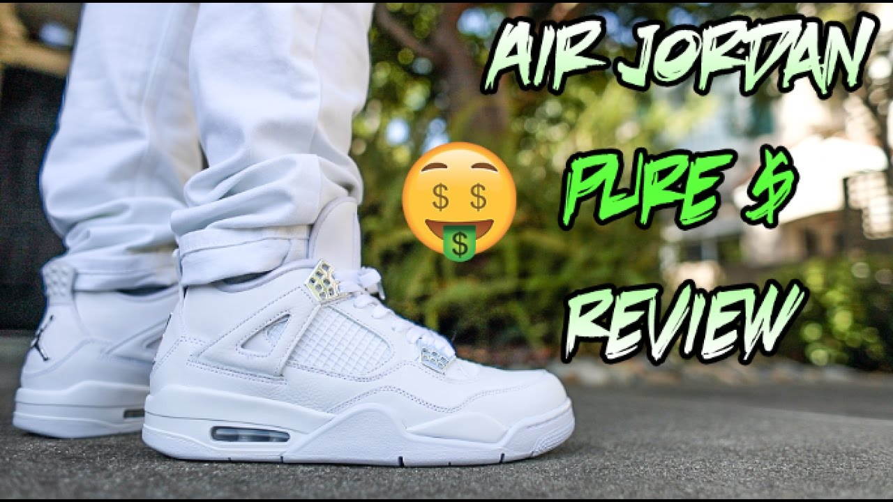 ec8e3ade3eea 2017 AIR JORDAN  PURE MONEY  4 REVIEW + ON FEET!!! - YouTube