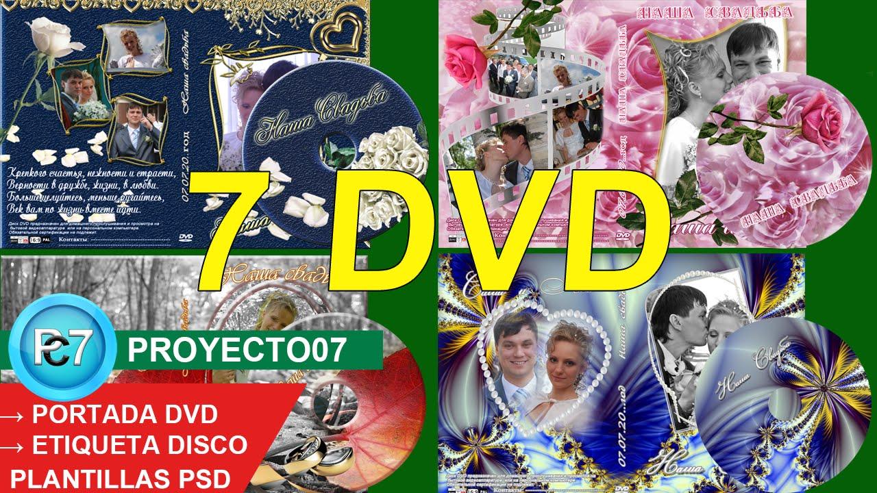 7 Dvd BODAS[PORTADA y ETIQUETA] diseños de calidad editables en ...