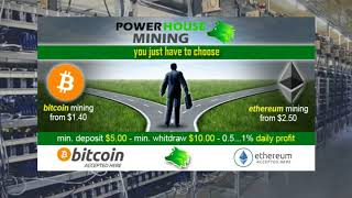 Passive income from BITCOIN and ALTCOIN mining! Power House Network Minning