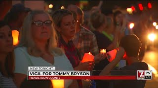 Vigil for Tommy Bryson held Wed. night