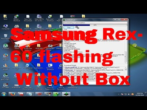How to flash Samsung Rex60 C3312R without  box