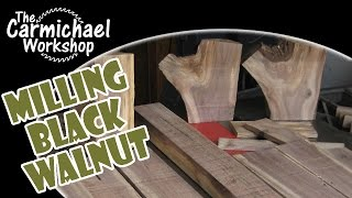Milling Black Walnut Logs - Diy Bandsaw Sawmill Project