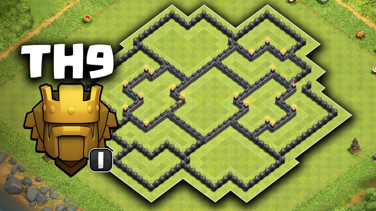 BEST NEW Town Hall 9 (TH9) TROPHY BASE 2019! Anti 3 Star HYBRID BASE w/  Copy Link! Clash of Clans