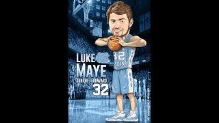 How to Draw UNC Tar Heel - Luke Maye Caricature