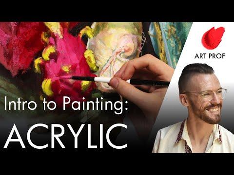 Still Life Acrylic Painting / ART PROF