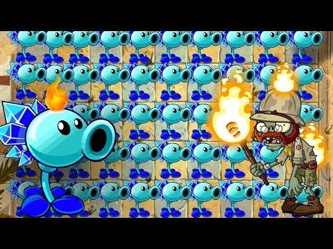 Plants vs Zombies 2 Gameplay Snow Pea Epic Quest vs Gargantuars Attack Primal Gameplay PVZ 2