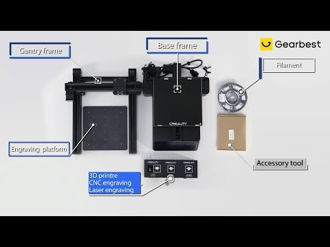 Creality CP   01 3 in 1 Smart Module Machine 3D Printer Unboxing - Gearbest.com