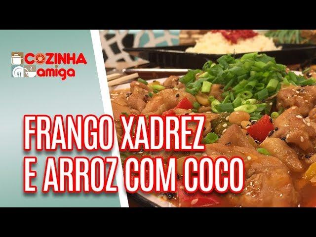 Frango Xadrez e Arroz com Coco - Giuliana Giunti | Cozinha Amiga (07/01/18)
