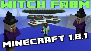 Minecraft Witch Farm - Triple Spawn Floor Design