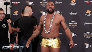 RAMPAGE WEIGHS IN WITH GOLD UNDERWEAR! RAMPAGE VS SONNEN FULL WEIGH IN & FACE OFF