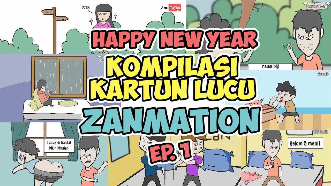 KOMPILASI KARTUN LUCU ZANMATION EP.1 - HAPPY NEW YEAR !