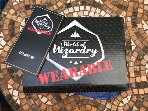 Harry Potter World of Wizardry WEARABLE Subscription Box Unboxing December 2017