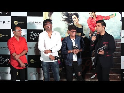 Karan Johar Launches Hindi Version Of Zingaat At Trailer Launch Of Dhadak