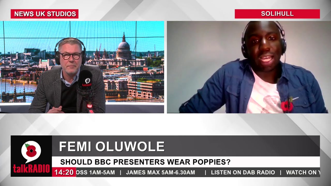 Femi Oluwole clashes over wearing poppies and Black Lives Matter