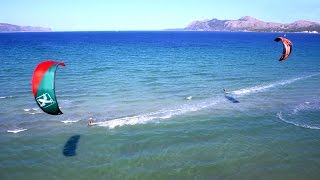 Kitesurfen nahe Pollenca auf Mallorca - finca-privat.de