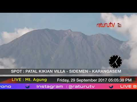 Mount Agung The volcano in Bali live real time ( Gunung Agung Recorded Version ) 29092017 - IV