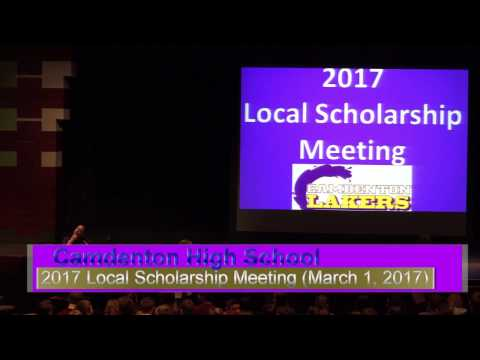 CHS Local Scholarship Meeting 2017