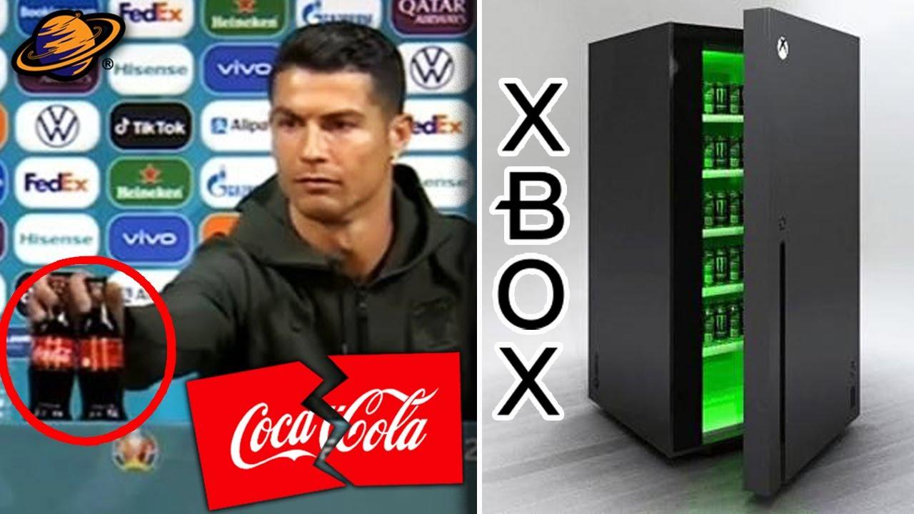 CR7: ¡NO TOMEN COCA COLA! PIERDE MILLONES   NUEVO REFRIGERADOR DE XBOX SERIES X