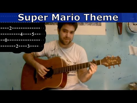Tutorial: Super Mario Theme - Fingerstyle Guitar w/ tab