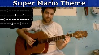Tutorial: Super Mario Theme - Fingerstyle Guitar w/ tab