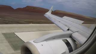 Airlink Embraer 190 landing at the new St. Helena airport