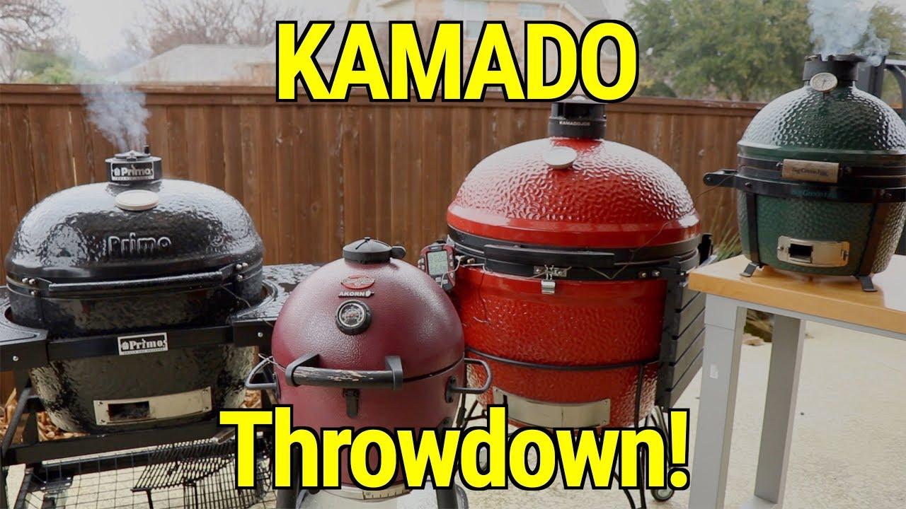 Big Green egg vs Kamado Joe, Akorn, Primo Pork Butt Throwdown | Use  Briquettes Vs  Lump? Experiment
