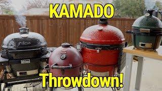 Big Green egg vs Kamado Joe Akorn Primo Pork Butt Throwdown  Use Briquettes Vs Lump? Experiment