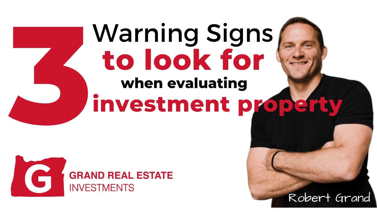 Top 3 Signs to Look For When Evaluating a Residential Investment Property In Eugene Oregon!
