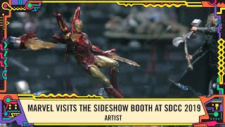 Exclusive Marvel statues at the Sideshow Booth at SDCC 2019!