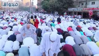 بالفيديو : الاف المواطنين يؤدون صلاة العيد بمسجد السلام بالوراق