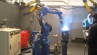 Сварка роботом Мотоман теплообменника газового котла(http://www.rfa-robotics.com/ Наше предприятие с 1992 г. занимается поставками сварочного оборудования в Юго-Восточный..., 2015-01-27T12:28:03.000Z)