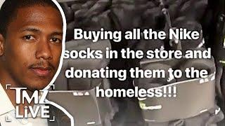 Nick Cannon Buys Tons Of Nike Socks! | TMZ Live