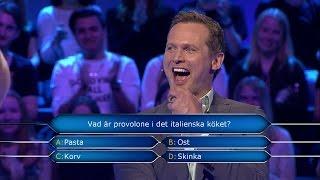 Han googlar fram svaret i Postkodmiljonären (TV4)
